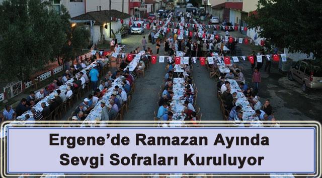 tekirdağ Ergene'de Ramazan Ayında Sevgi Sofraları Kuruluyor