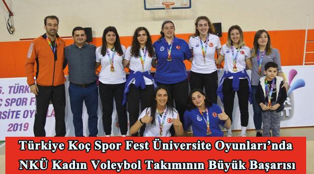 tekirdağ Türkiye Koç Spor Fest Üniversite Oyunları'nda NKÜ Kadın Voleybol Takımının Büyük Başarısı