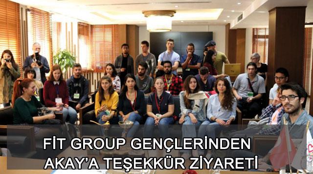 tekirdağ FİT GROUP GENÇLERİNDEN  AKAY'A TEŞEKKÜR ZİYARETİ