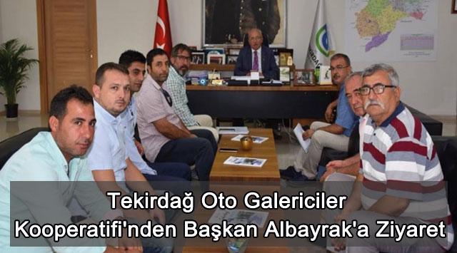tekirdağ Tekirdağ Oto Galericiler Kooperatifi'nden Başkan Albayrak'a Ziyaret