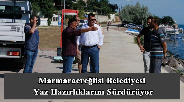 tekirdağ Marmaraereğlisi Belediyesi Yaz Hazırlıklarını Sürdürüyor