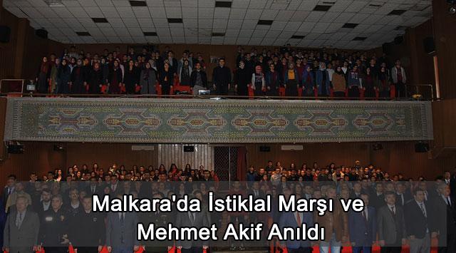 tekirdağ Malkara'da İstiklal Marşı ve Mehmet Akif Anıldı