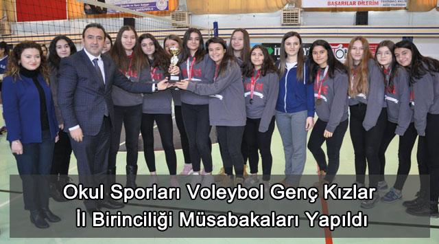 tekirdağ Okul Sporları Voleybol Genç Kızlar İl Birinciliği Müsabakaları Yapıldı