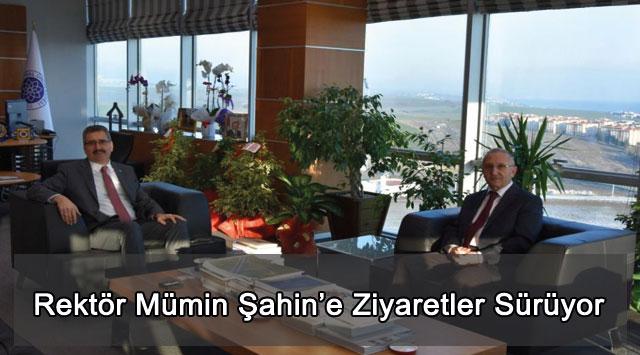 tekirdağ Rektör Mümin Şahin'e Ziyaretler Sürüyor