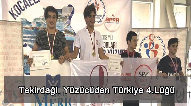 tekirdağ Tekirdağlı Yüzücüden Türkiye 4.Lüğü