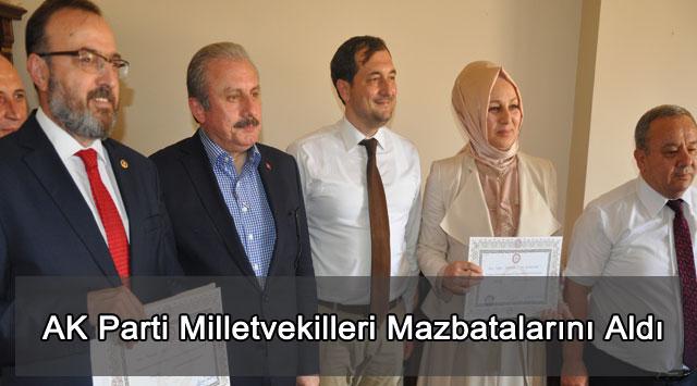 tekirdağ AK Parti Milletvekilleri Mazbatalarını Aldı