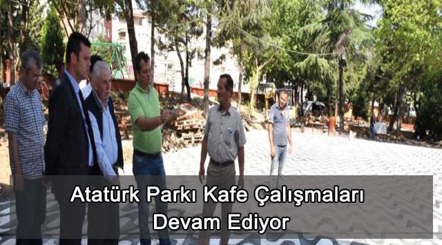 tekirdağ Atatürk Parkı Kafe Çalışmaları Devam Ediyor