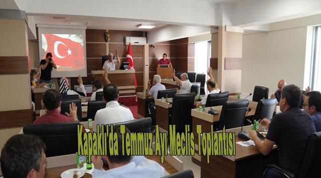 tekirdağ Kapaklı'da Temmuz Ayı Meclis Toplantısı
