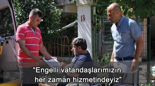 """tekirdağ """"Engelli vatandaşlarımızın her zaman hizmetindeyiz"""""""