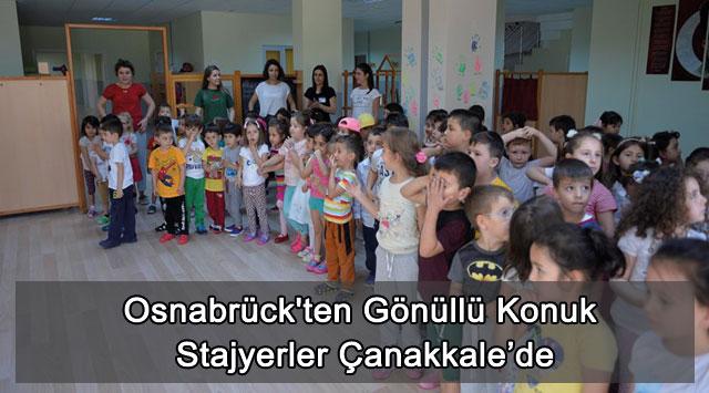 tekirdağ Osnabrück'ten Gönüllü Konuk Stajyerler Çanakkale'de