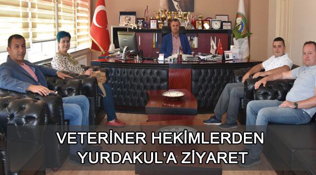 tekirdağ VETERİNER HEKİMLERDEN YURDAKUL'A ZİYARET