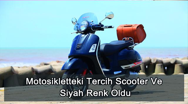 tekirdağ Motosikletteki Tercih Scooter Ve Siyah Renk Oldu