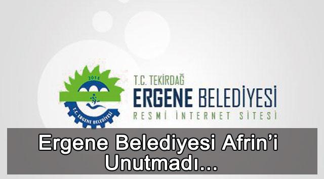 tekirdağ Ergene Belediyesi Afrin'i Unutmadı