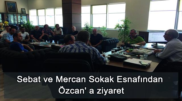 tekirdağ Mercan ve Sebat Sokak Esnafı'ndan Özcan'a Ziyaret
