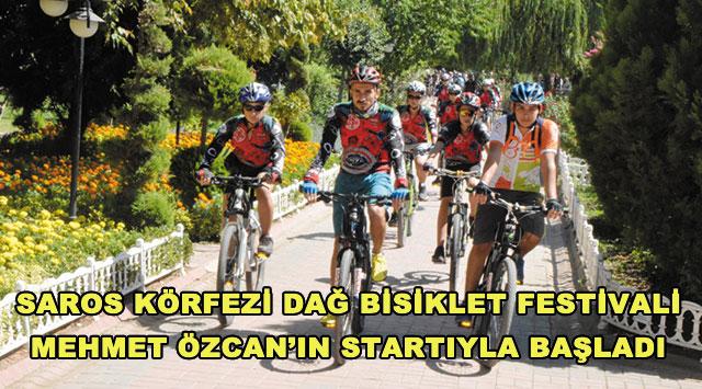 tekirdağ SAROS KÖRFEZİ DAĞ BİSİKLET FESTİVALİ MEHMET ÖZCAN'IN STARTIYLA BAŞLADI