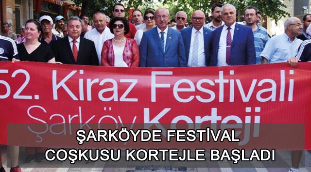 tekirdağ Şarköyde Festival Coşkusu Kortejle Başladı