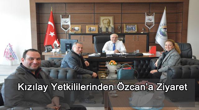 tekirdağ Kızılay Yetkililerinden Özcan'a Ziyaret