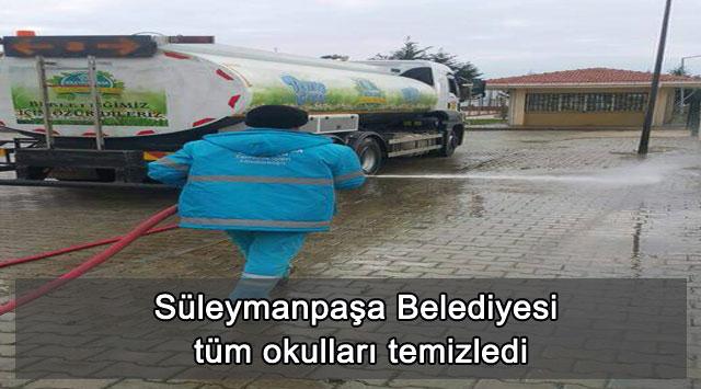 tekirdağ Süleymanpaşa Belediyesi tüm okulları temizledi