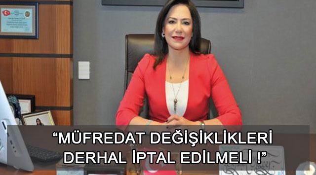 """tekirdağ """"MÜFREDAT DEĞİŞİKLİKLERİ DERHAL İPTAL EDİLMELİ !"""""""