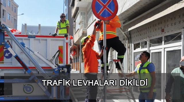 tekirdağ TRAFİK LEVHALARI DİKİLDİ