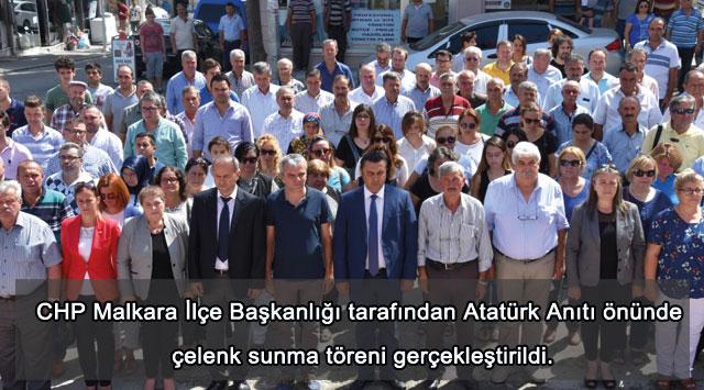 tekirdağ Malkara'da CHP'nin 94. kuruluş yıldönümü kutlandı