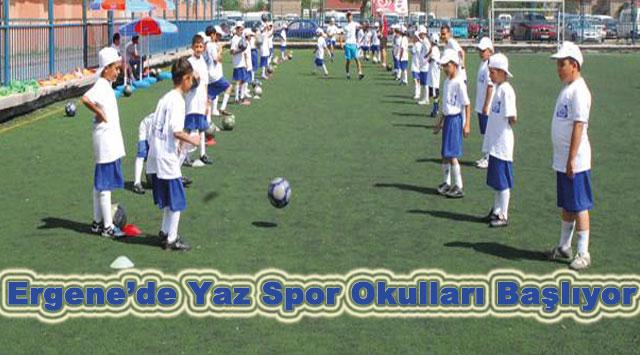 tekirdağ Ergene'de Yaz Spor Okulları Başlıyor