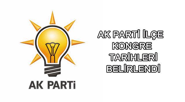 tekirdağ Tekirdağ'da Ak Parti İlçe Kongre Tarihleri Belirlendi