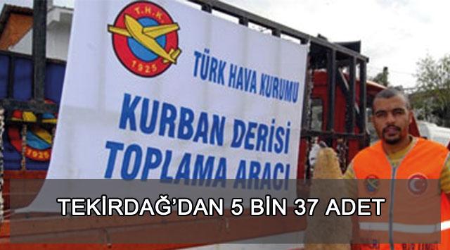tekirdağ Thk'ya 5 Bin 37 Adet Deri Bağışlandı