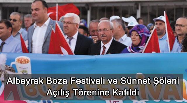 tekirdağ Albayrak Boza Festivali ve Sünnet Şöleni Açılış Törenine Katıldı
