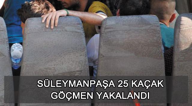 tekirdağ Süleymanpaşa 25 Kaçak Göçmen Yakalandı