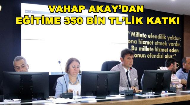tekirdağ VAHAP AKAY'DAN EĞİTİME 350 BİN TL'LİK KATKI