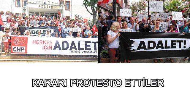 tekirdağ Kararı Protesto Ettiler