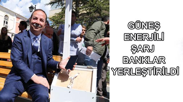 tekirdağ Güneş Enerjili şarj Banklar Yerleştirildi