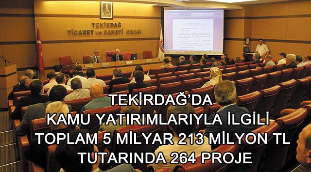 tekirdağ Toplam 5 Milyar 213 Milyon Tl Tutarında 264 Proje