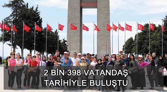tekirdağ 2 BİN 398 VATANDAŞ TARİHİYLE BULUŞTU