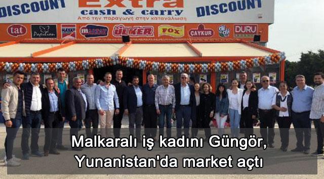tekirdağ Malkaralı iş kadını Güngör, Yunanistan'da market açtı