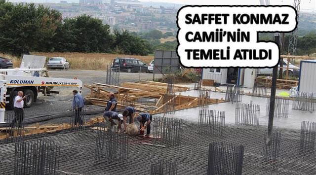 tekirdağ SAFFET KONMAZ CAMİİ'NİN TEMELİ ATILDI