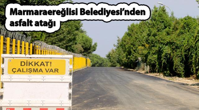 tekirdağ Marmaraereğlisi Belediyesi'nden asfalt atağı