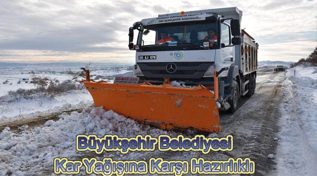 tekirdağ Büyükşehir Belediyesi Kar Yağışına Karşı Hazırlıklı