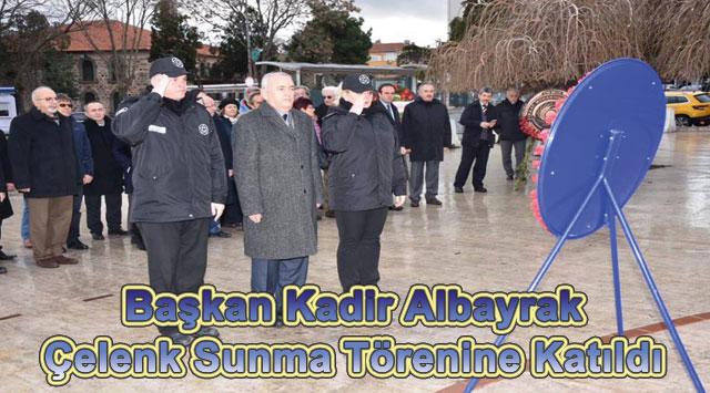 tekirdağ Başkan Kadir Albayrak Çelenk Sunma Törenine Katıldı