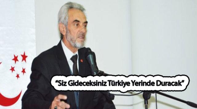 """tekirdağ """"Siz Gideceksiniz Türkiye  Yerinde Duracak"""""""