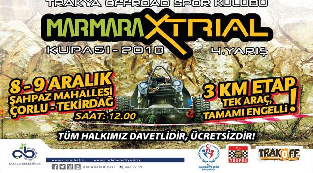 tekirdağ Marmara X Trial Kupası 4. Yarışı Çorlu'da Düzenlenecek