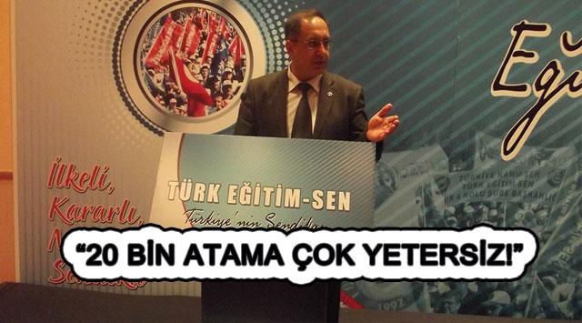 """tekirdağ """"20 BİN ATAMA ÇOK YETERSİZ"""""""