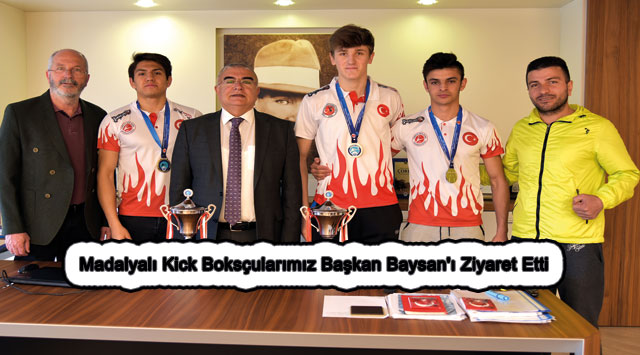 tekirdağ Madalyalı Kick Boksçularımız Başkan Baysan'ı Ziyaret Etti
