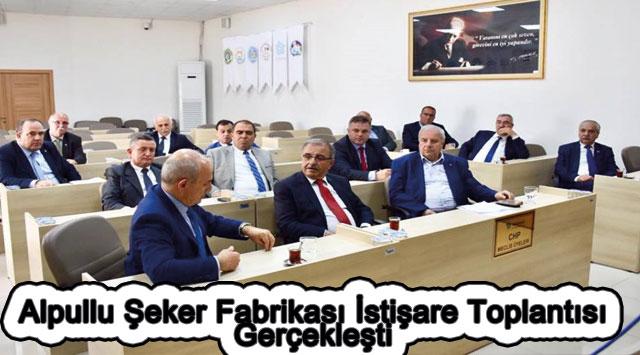 tekirdağ Alpullu Şeker Fabrikası İstişare Toplantısı Gerçekleşti