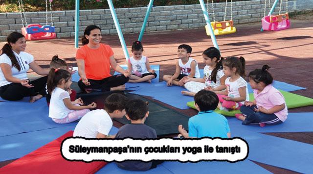 tekirdağ Süleymanpaşa'nın çocukları yoga ile tanıştı