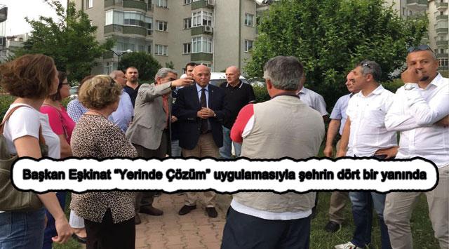 """tekirdağ Başkan Eşkinat """"Yerinde Çözüm"""" uygulamasıyla şehrin dört bir yanında"""