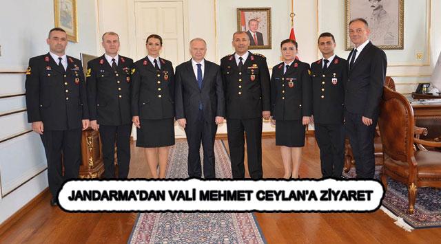 tekirdağ JANDARMA'DAN VALİ MEHMET CEYLAN'A ZİYARET