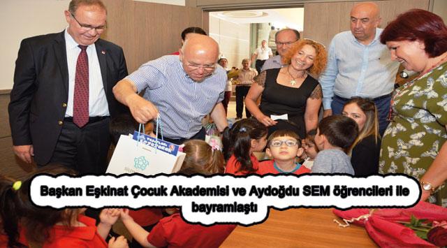 tekirdağ Başkan Eşkinat Çocuk Akademisi ve Aydoğdu SEM öğrencileri ile bayramlaştı