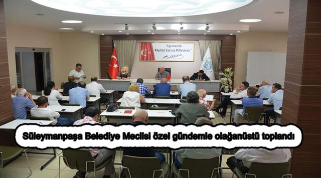 tekirdağ Süleymanpaşa Belediye Meclisi özel gündemle olağanüstü toplandı